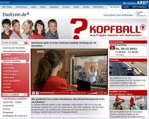 "Lippenlesen im ARD ""Kopfball"""